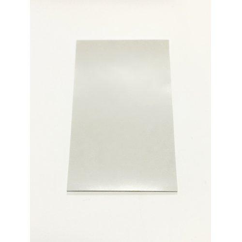 他の写真1: デコ用ライトシルバーラミネートシートポストカードサイズ 18.3cm×10cm. 5枚入り  (デコレーション用大)