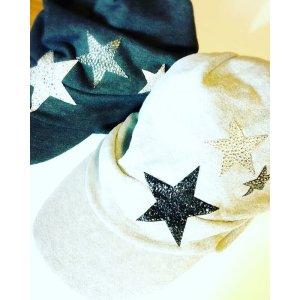 画像1: 星を散りばめたスターキャップ